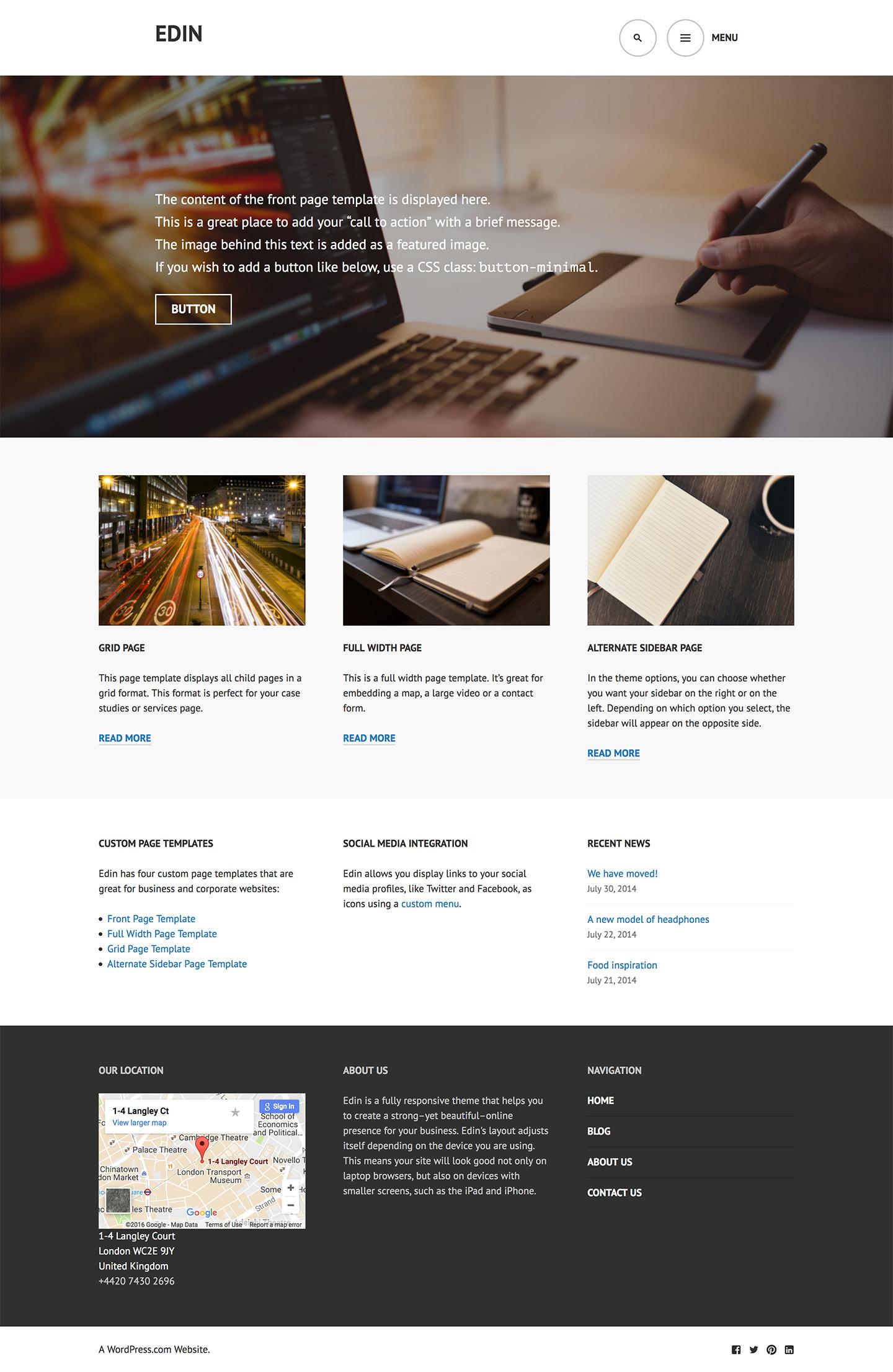 Edin Theme WordPress