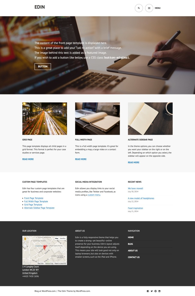 Edin Theme — WordPress.com