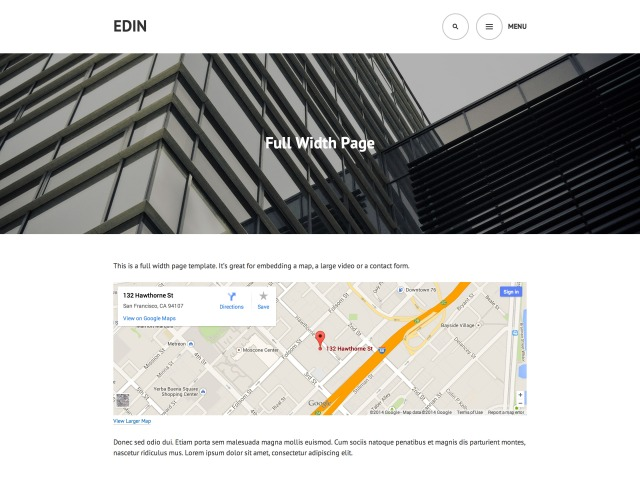 Edin: Full Width Page Template