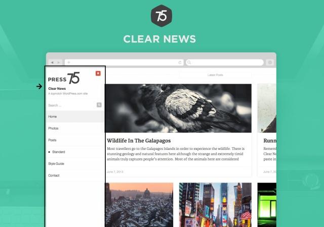 Press75 Clear News Menu
