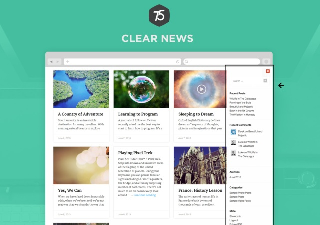 Press75 Clear News Sidebar