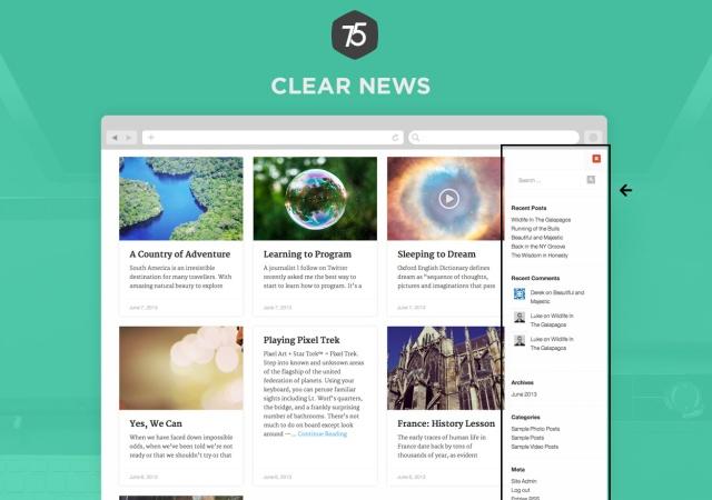 Press75 Clear News Sidebar