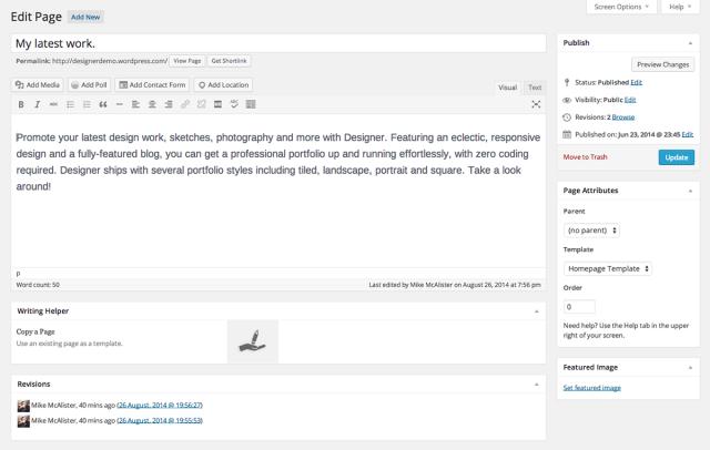 designer-homepage-setup