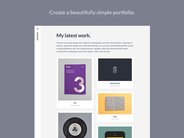 weve provided support for all media types so that you can create a portfolio layout that best