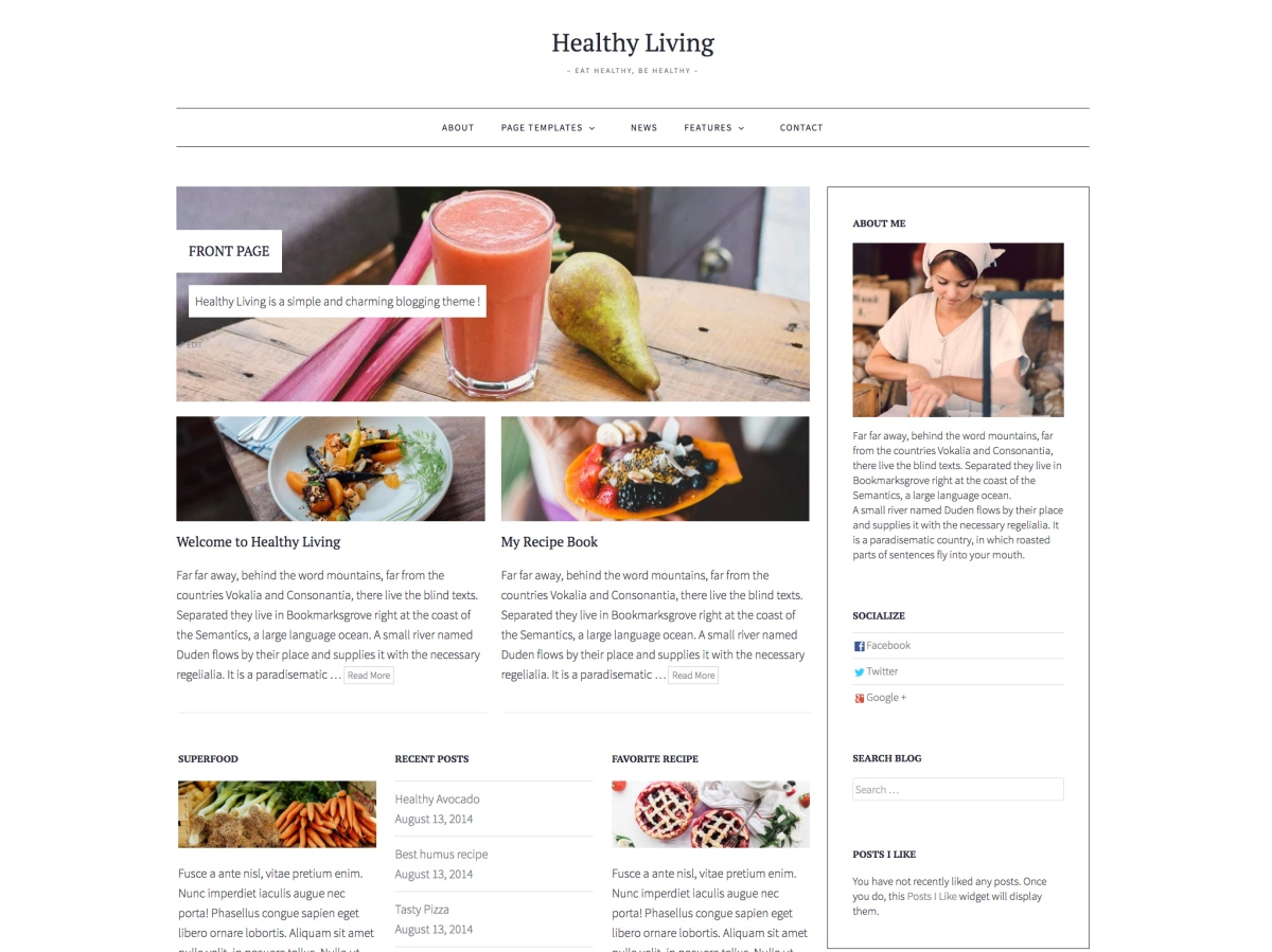 healthy living theme wordpress themes for at wordpress com