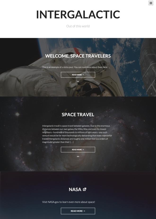 Intergalactic Theme Demo