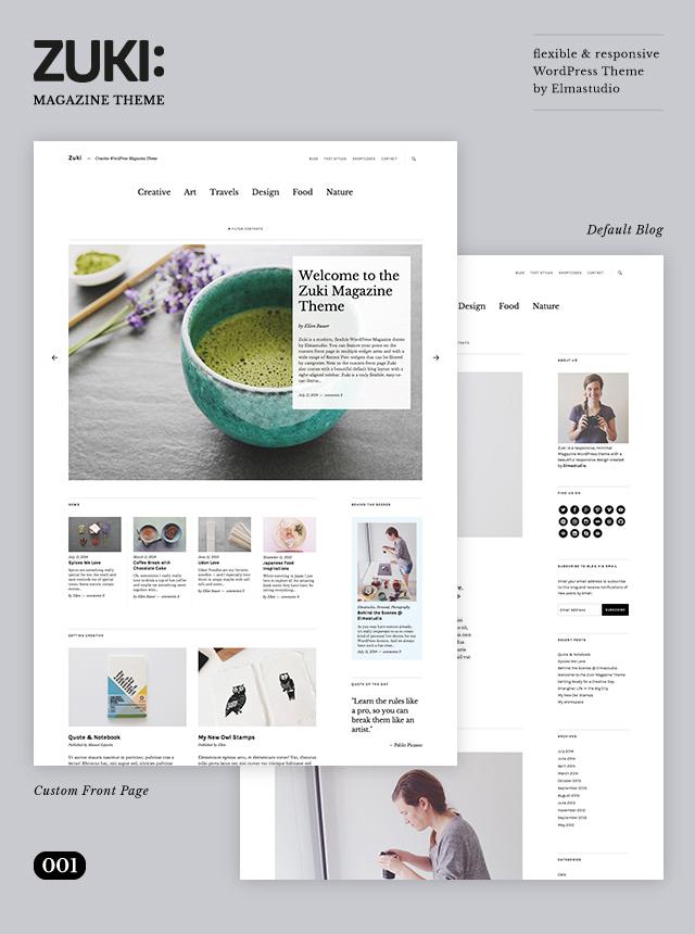Zuki WordPress Theme by Elmastudio