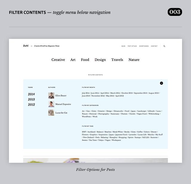 Zuki WordPress Theme Header Area