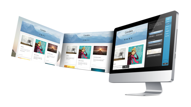 Candela Custom Header WordPress Theme