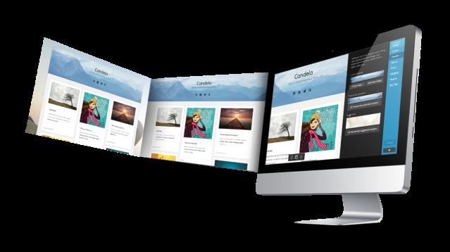 Candela Custom Header WordPress Theme