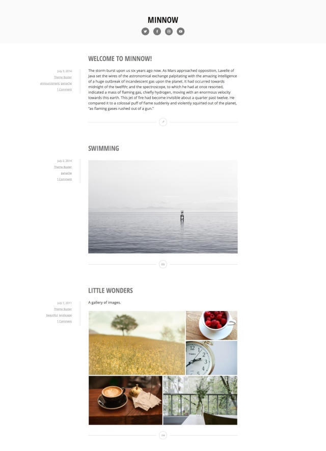 Minnow WordPress theme
