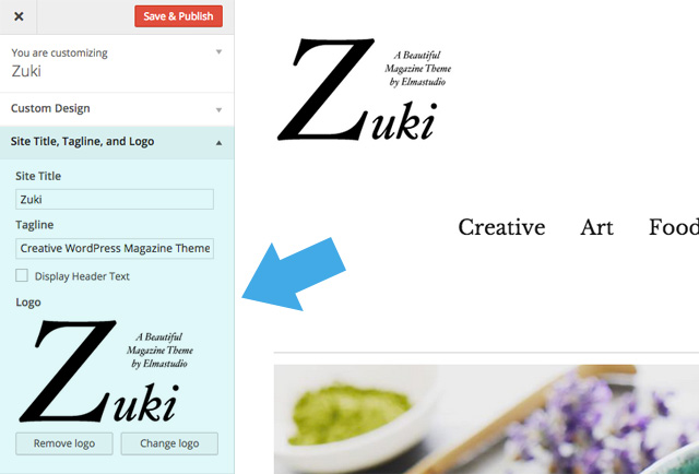 Zuki Custom Logo Upload