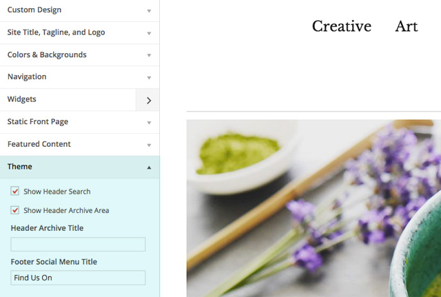 how to make a menu header not a page wordpress
