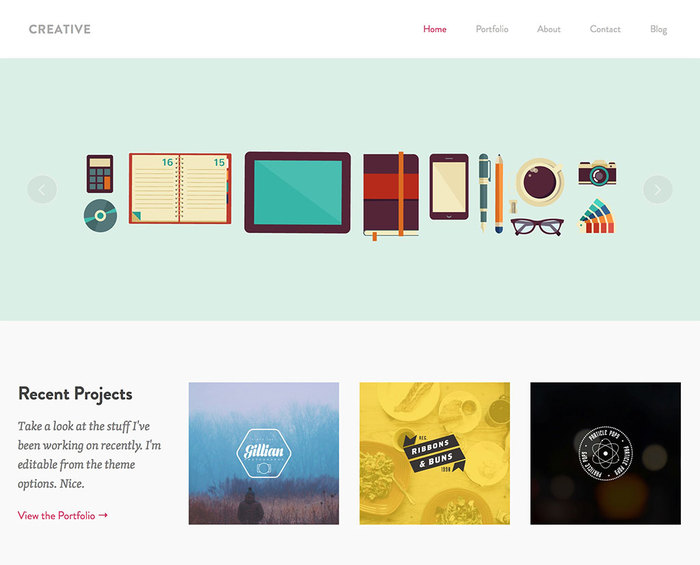 Creative Theme - Featured Content
