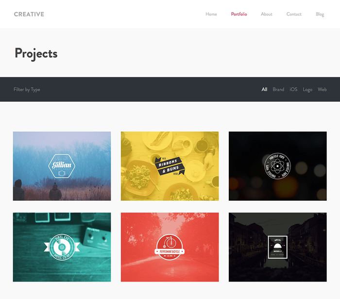 Creative Theme - Portfolio Preview