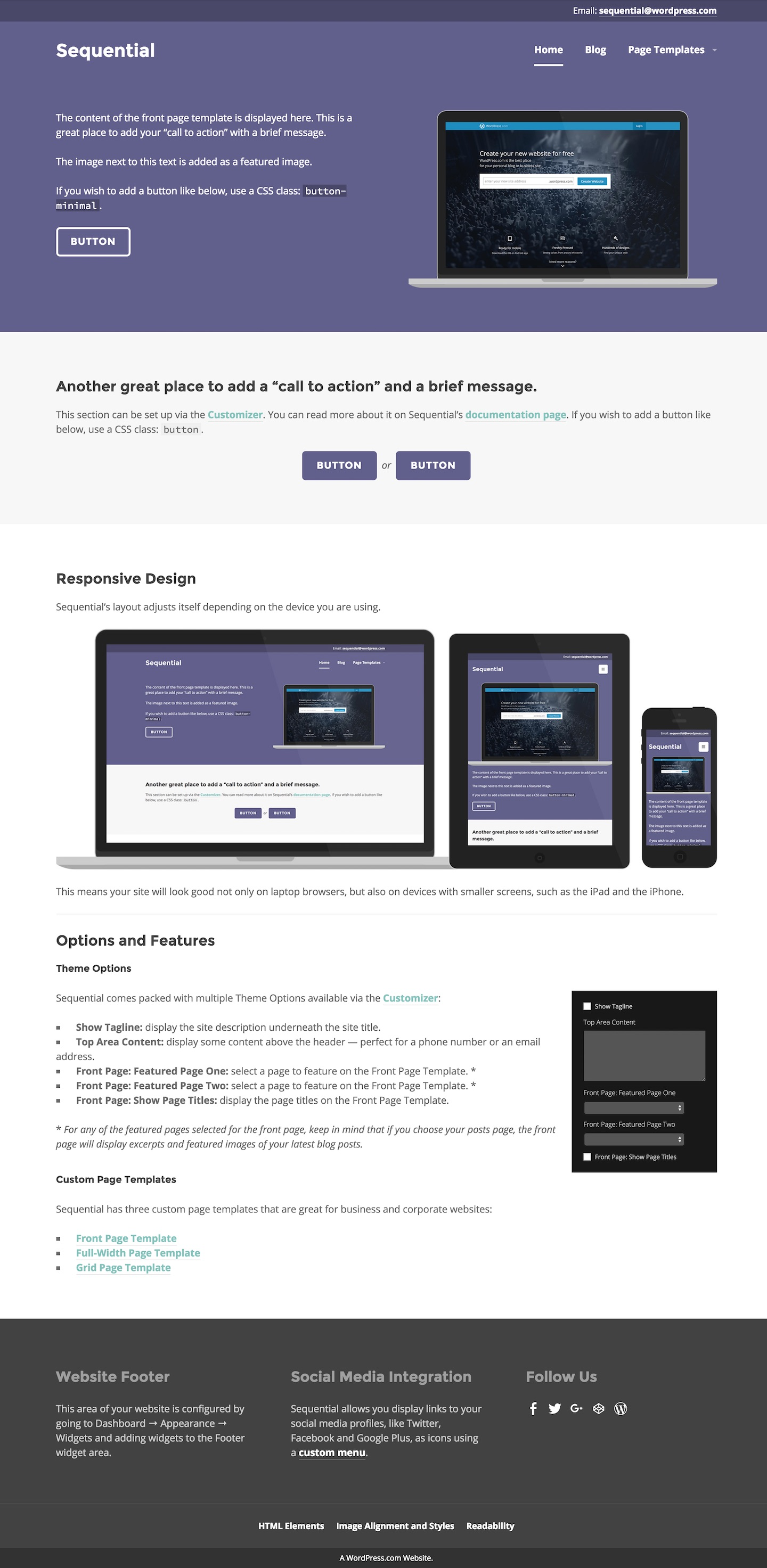 Sequential theme wordpress open live demo pronofoot35fo Images
