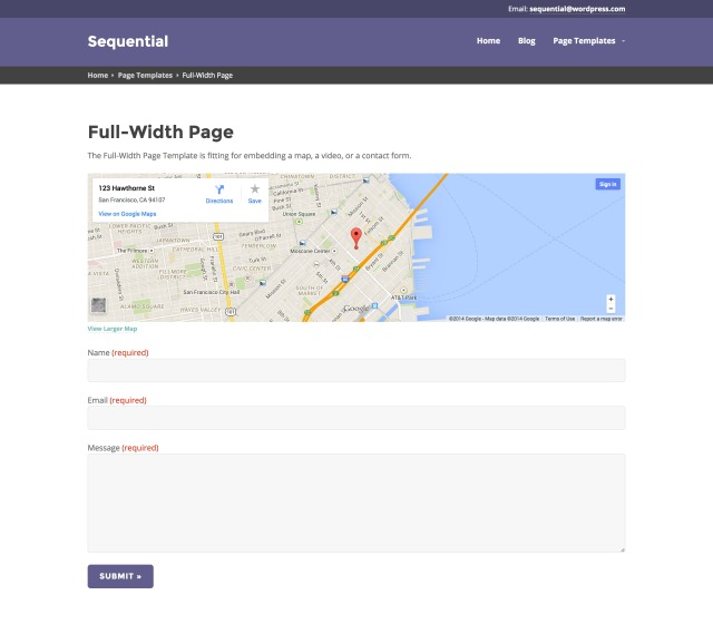 Sequential: Full-Width Page