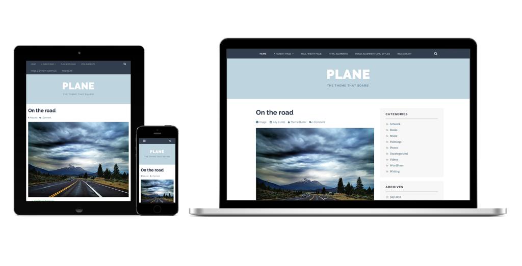 Plane - Responsive Design