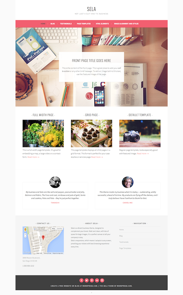 Sela Theme WordPresscom