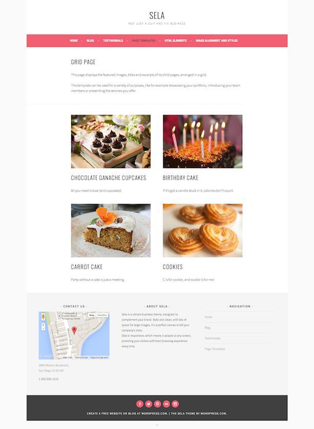 Sela - Grid Page Template