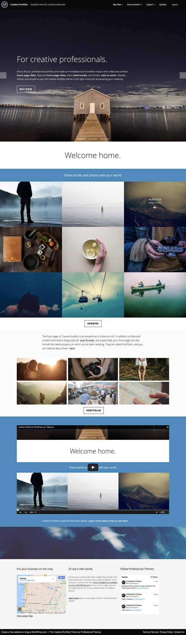 The Creative Portfolio front page.