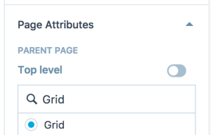 grid-page template