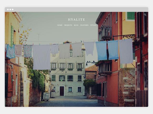 Hyalite: Full Screen Header