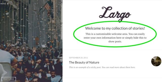 Largo Welcome