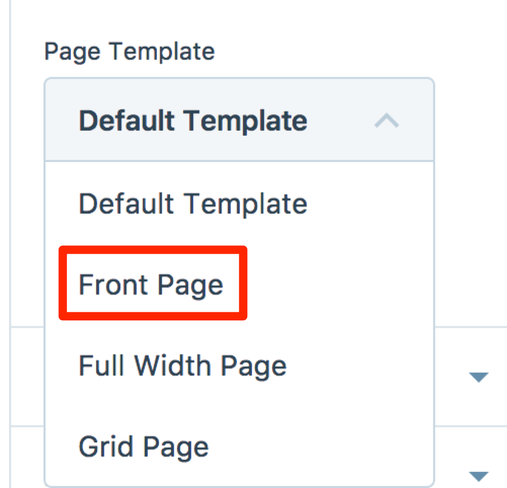 frontpage templates