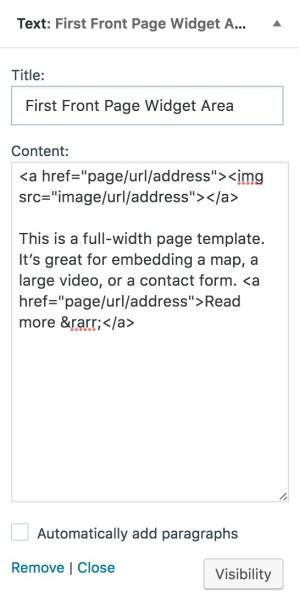 text widget 1