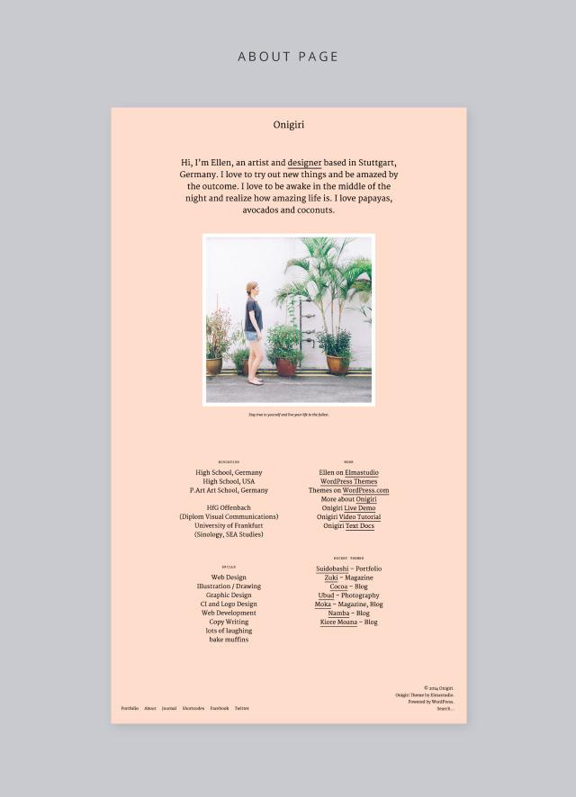 Onigiri About Page