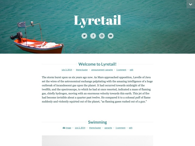 Lyretail WordPress theme