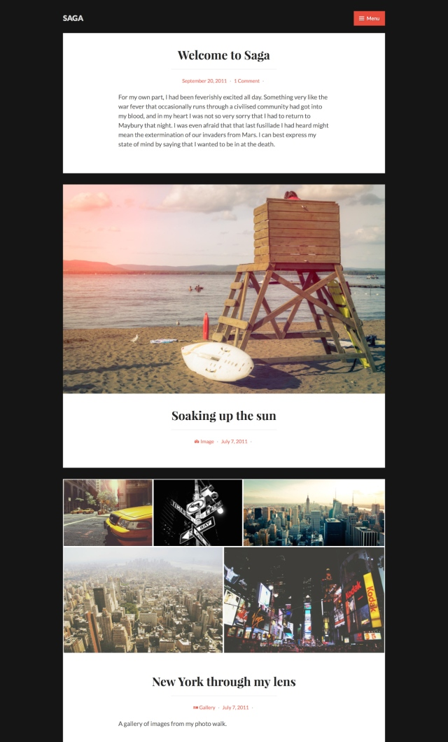 Saga WordPress Theme