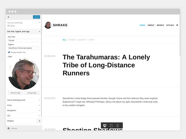 Shrake: Customize