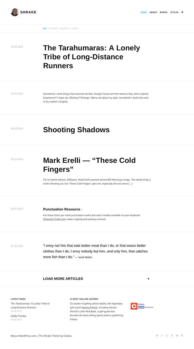 Shrake — Professional WordPress Theme by Jetpack
