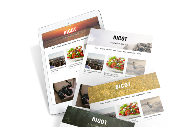 Custom Header Dicot WordPress Theme