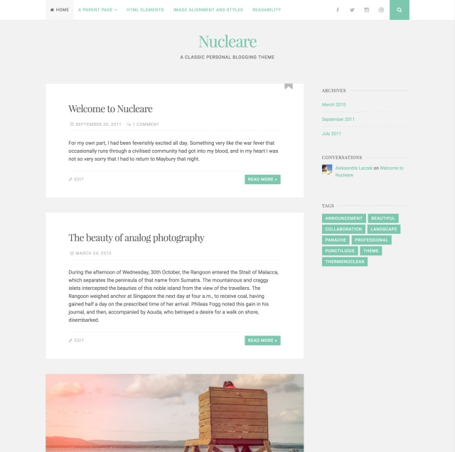 Nucleare Theme — WordPress.com