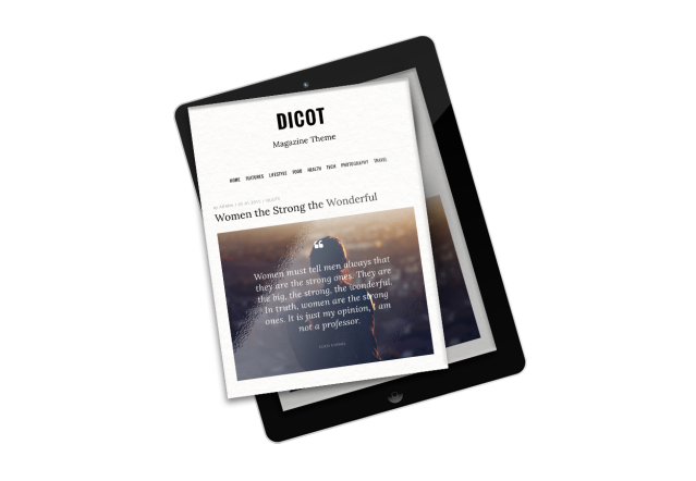 Post Formats Dicot WordPress Theme
