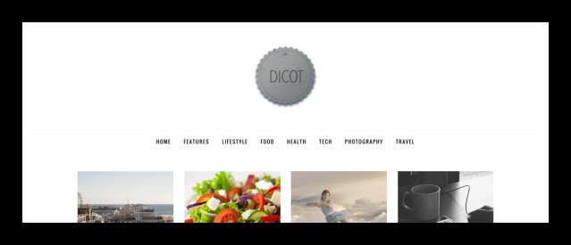 Site Logo Dicot Magazine Theme