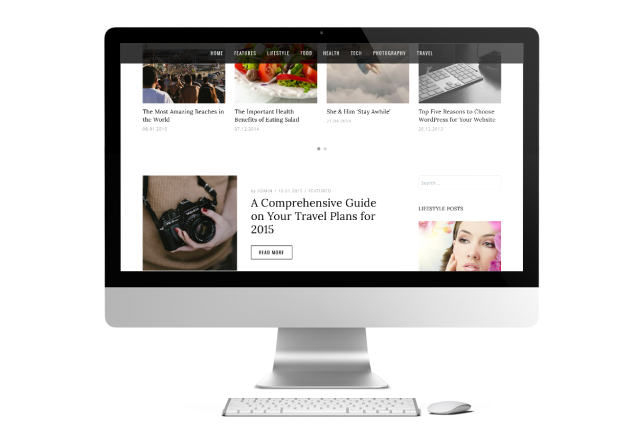 Sticky Menu Dicot Magazine WordPress Theme