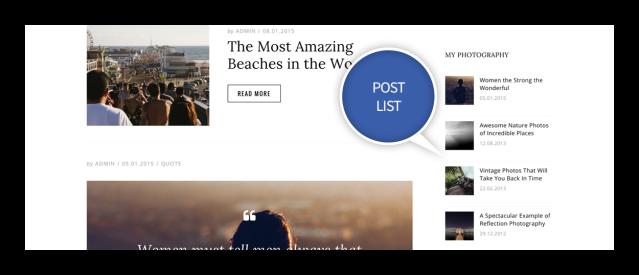 Post List Widget Dicot Magazine Theme