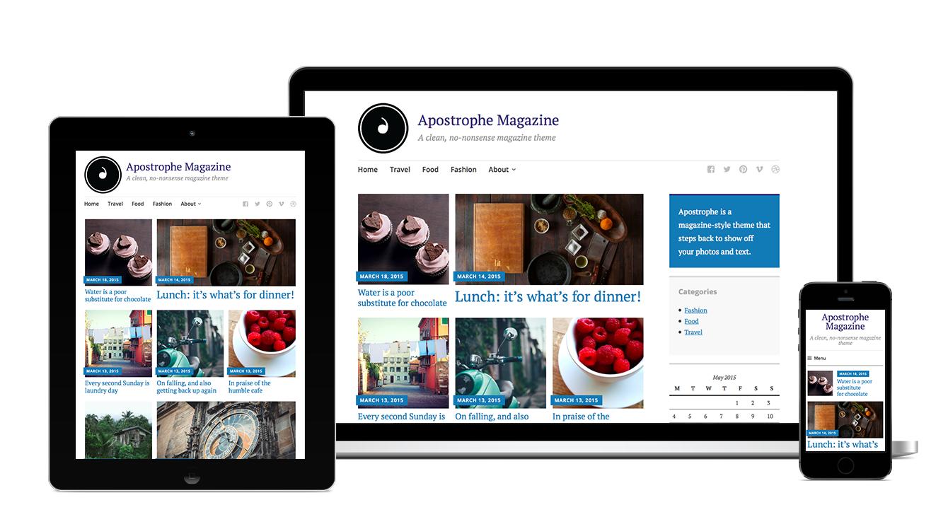 Apostrophe: A fully responsive magazine theme