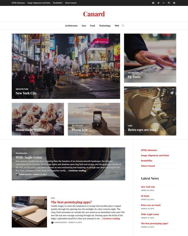 Canard: Homepage