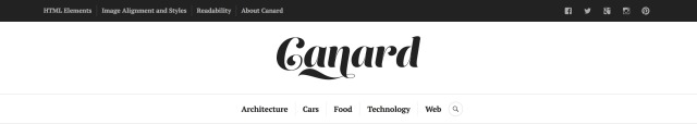 Canard: Site Logo