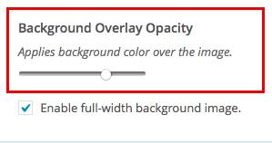Encore: Docs: Customize Background Opacity