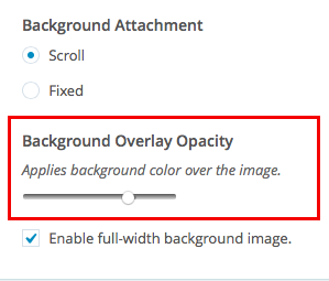 Encore: Docs: Customize Background Opacity