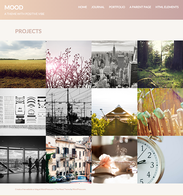 Mood Theme - Portfolio