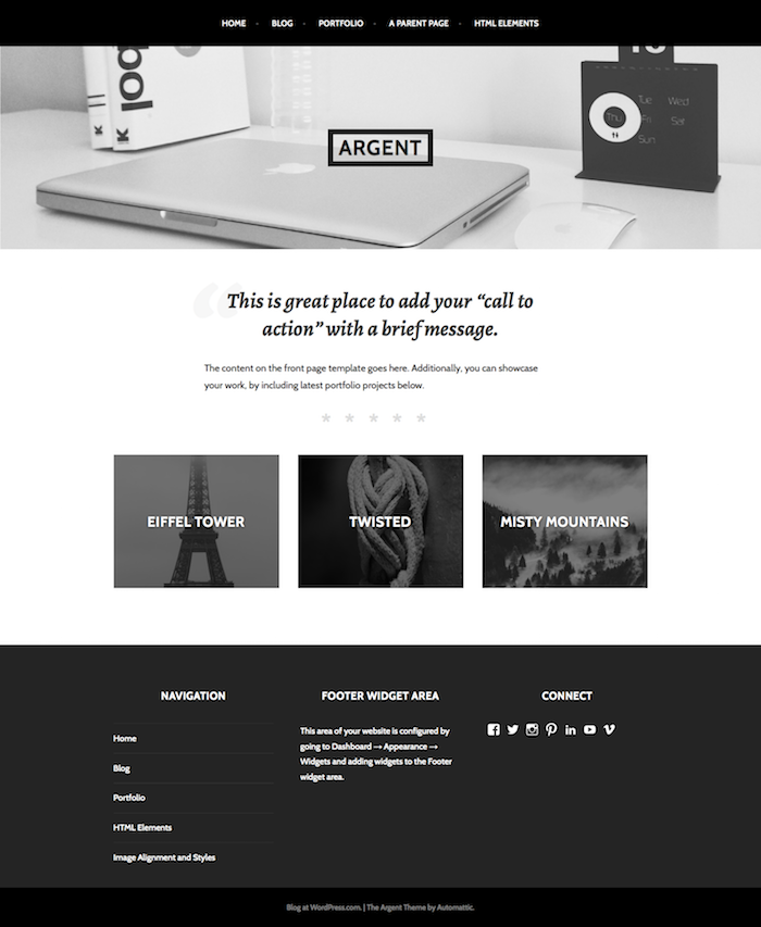 Argent — Professional WordPress Theme by Jetpack