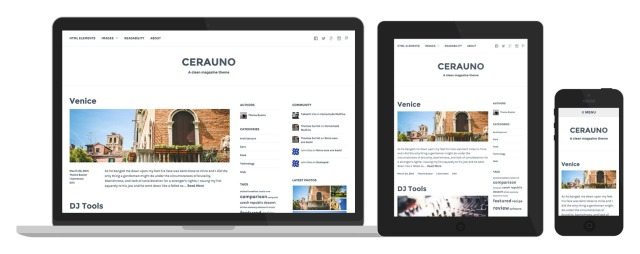 Cerauno's responsive design in action
