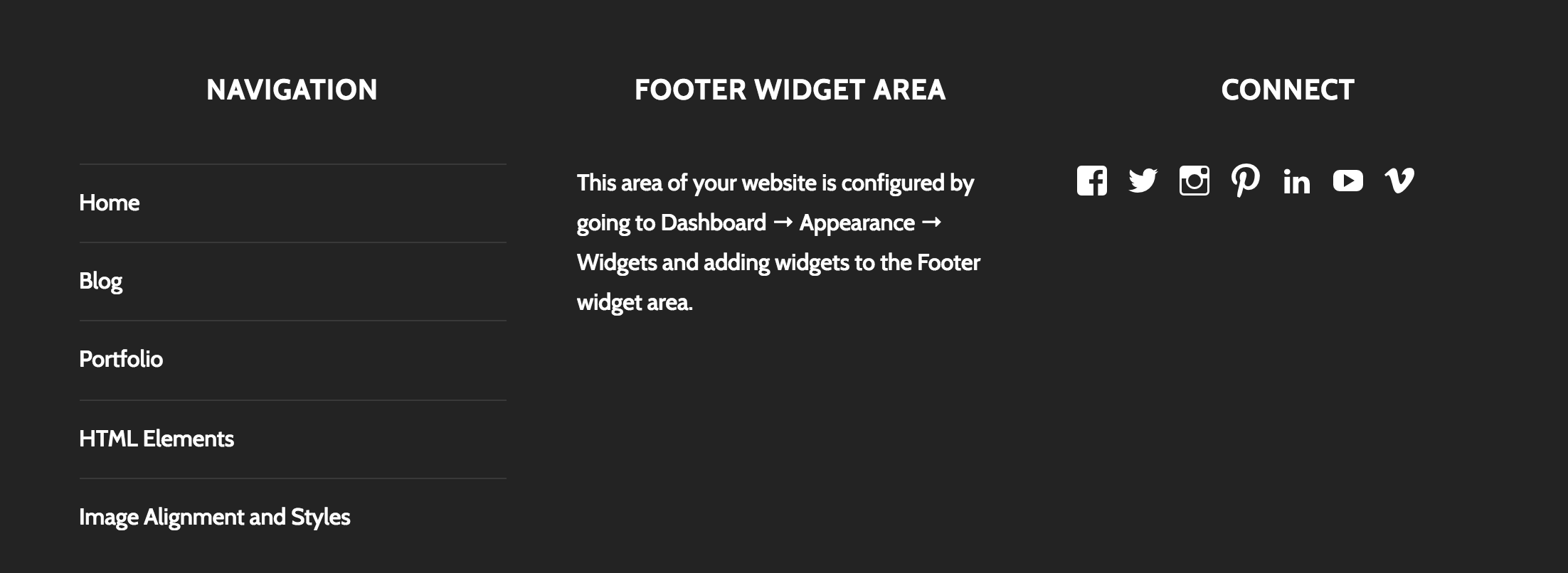 add copyright footer thesis theme Footer is an indispensable area of the website just as the header homes the primary navigation, planning to replicate the navigation menu in the footer is.